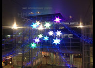 2.5m Diameter Wonderful Inflatable Lighting Decoration Star Decorative Hanging Stars