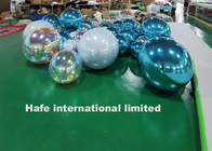 Customized Hanging Mirror Ball Balloons Red / Purple / Pink / Green PVC For Stage Events