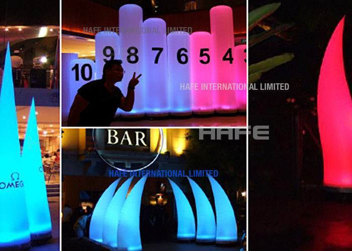 RGB Inflatable LED Lights Aero / Muse For Event Space Lighting